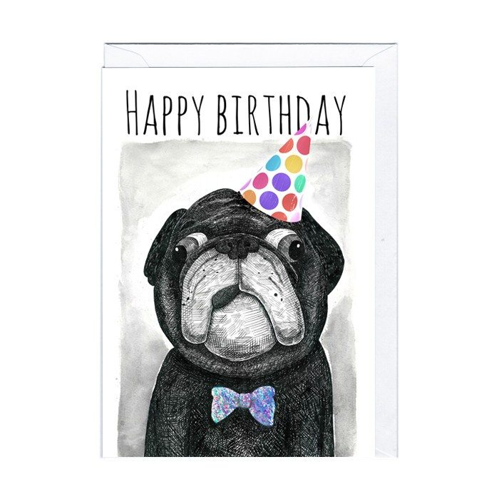 Carte rigolote – Chien Happy Birthday