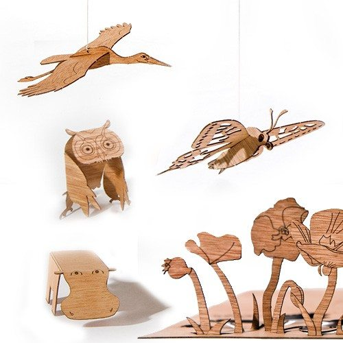 Cartes postales Pop-up en bois
