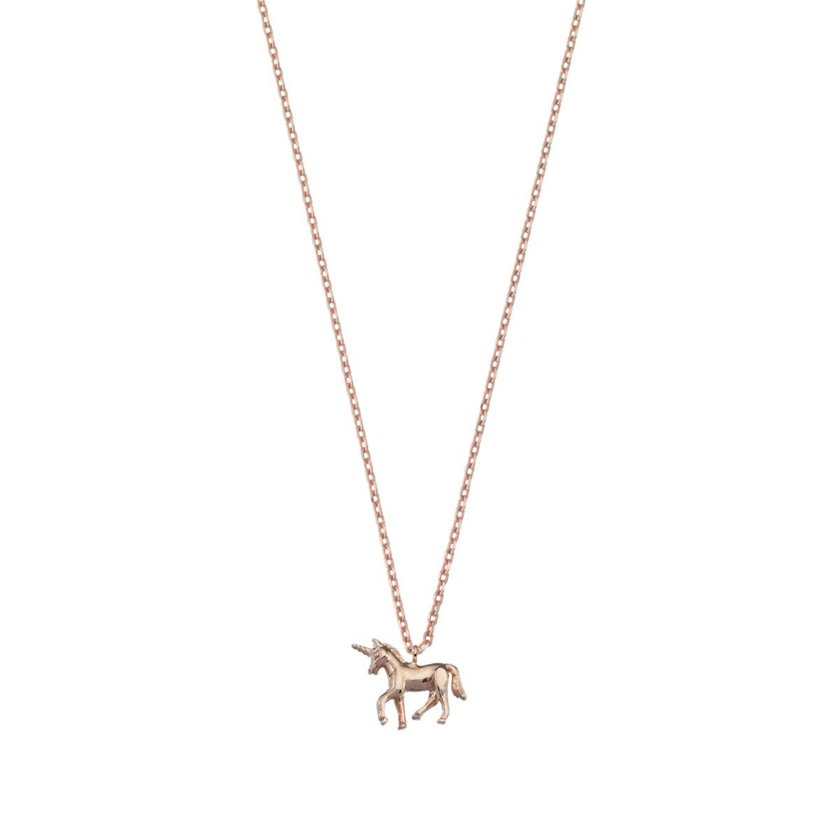 Collier Licorne or rose - support personnalisé
