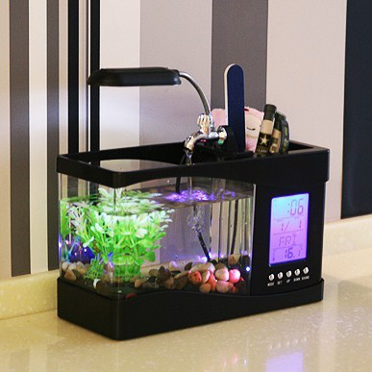 organiseur de bureau usb aquarium. Black Bedroom Furniture Sets. Home Design Ideas