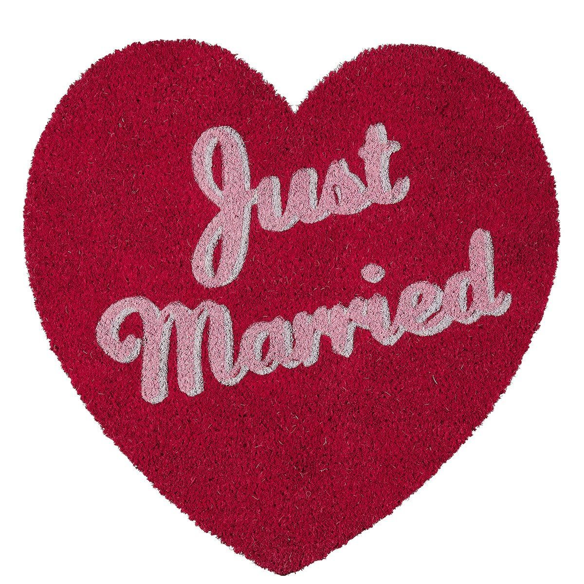 Paillasson coeur - Just Married