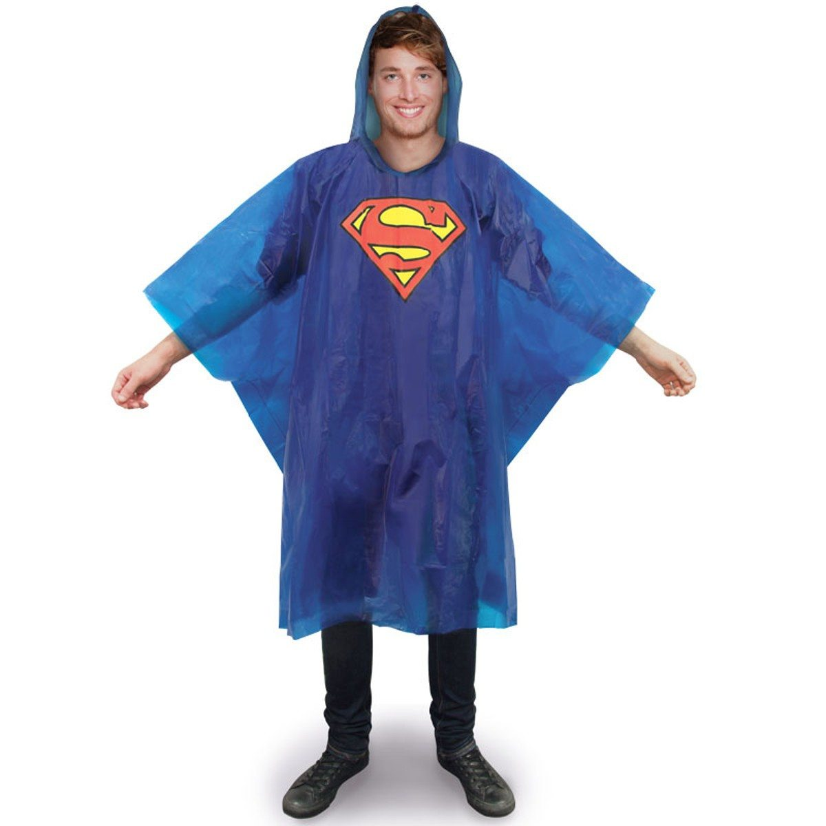 poncho de pluie superman. Black Bedroom Furniture Sets. Home Design Ideas