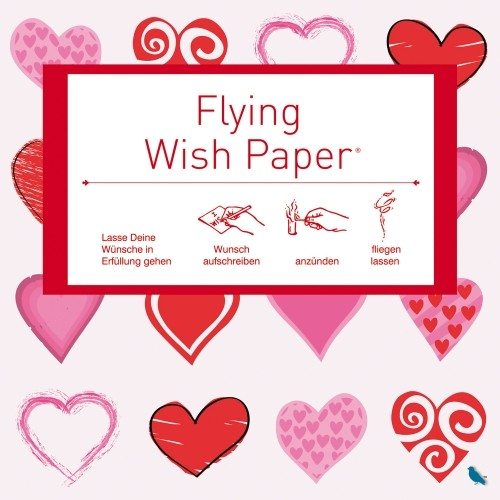 Set de 15 papiers à vœux volants - Flying Wish Paper