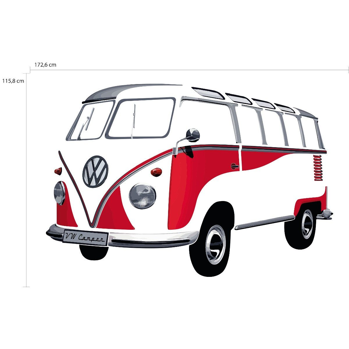 stickers mural combi vw. Black Bedroom Furniture Sets. Home Design Ideas