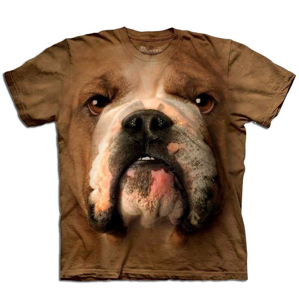 T-Shirt Gros plan Animal -  Bulldog