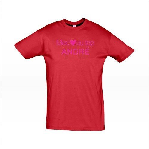 T-Shirt Homme - Mec au top - Rouge XL