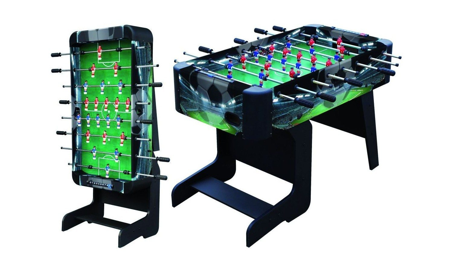 Table de babyfoot pliable