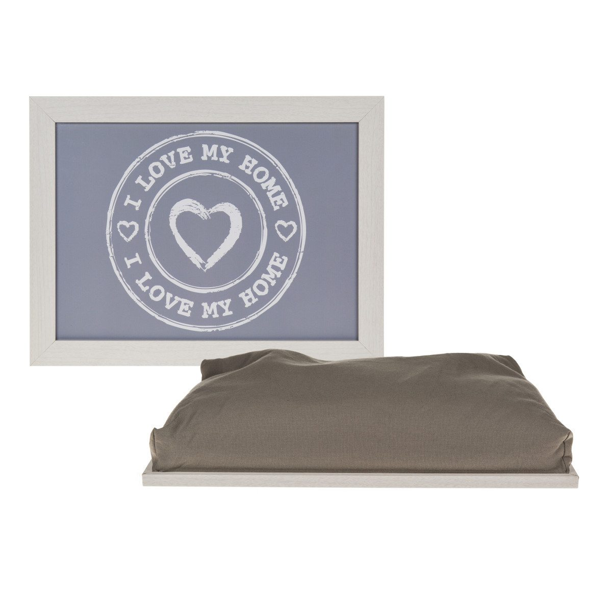 Tablette et coussin - I love my home