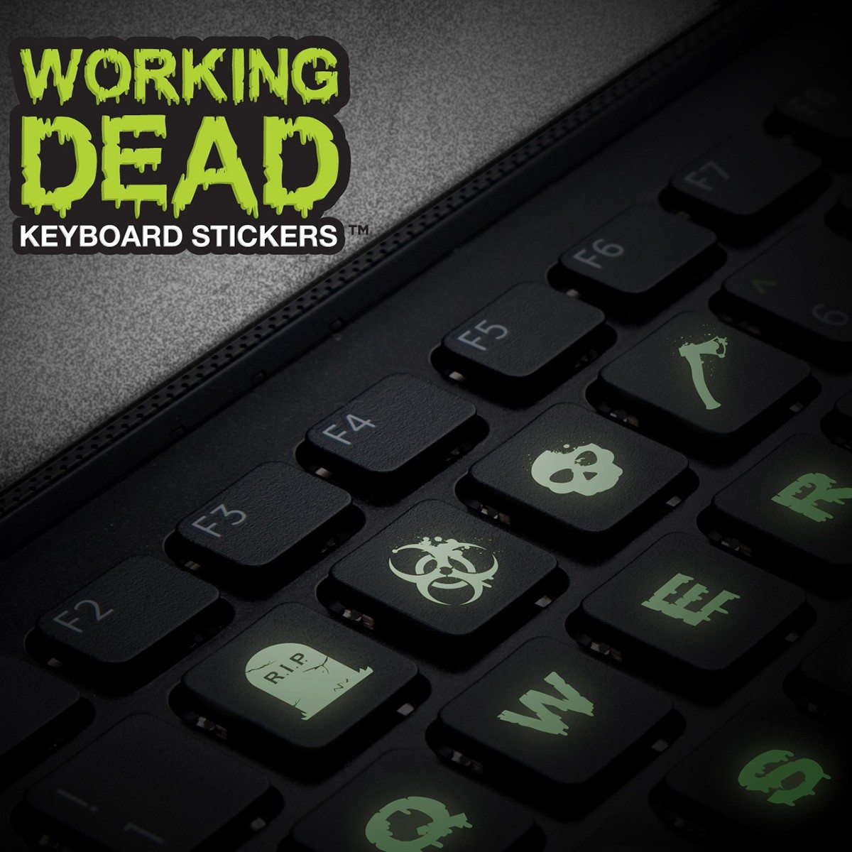 « The Working Dead » - Stickers fluorescents pour clavier