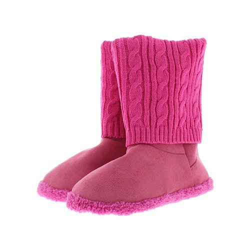 Bottes-pantoufles roses Tussi on Tour