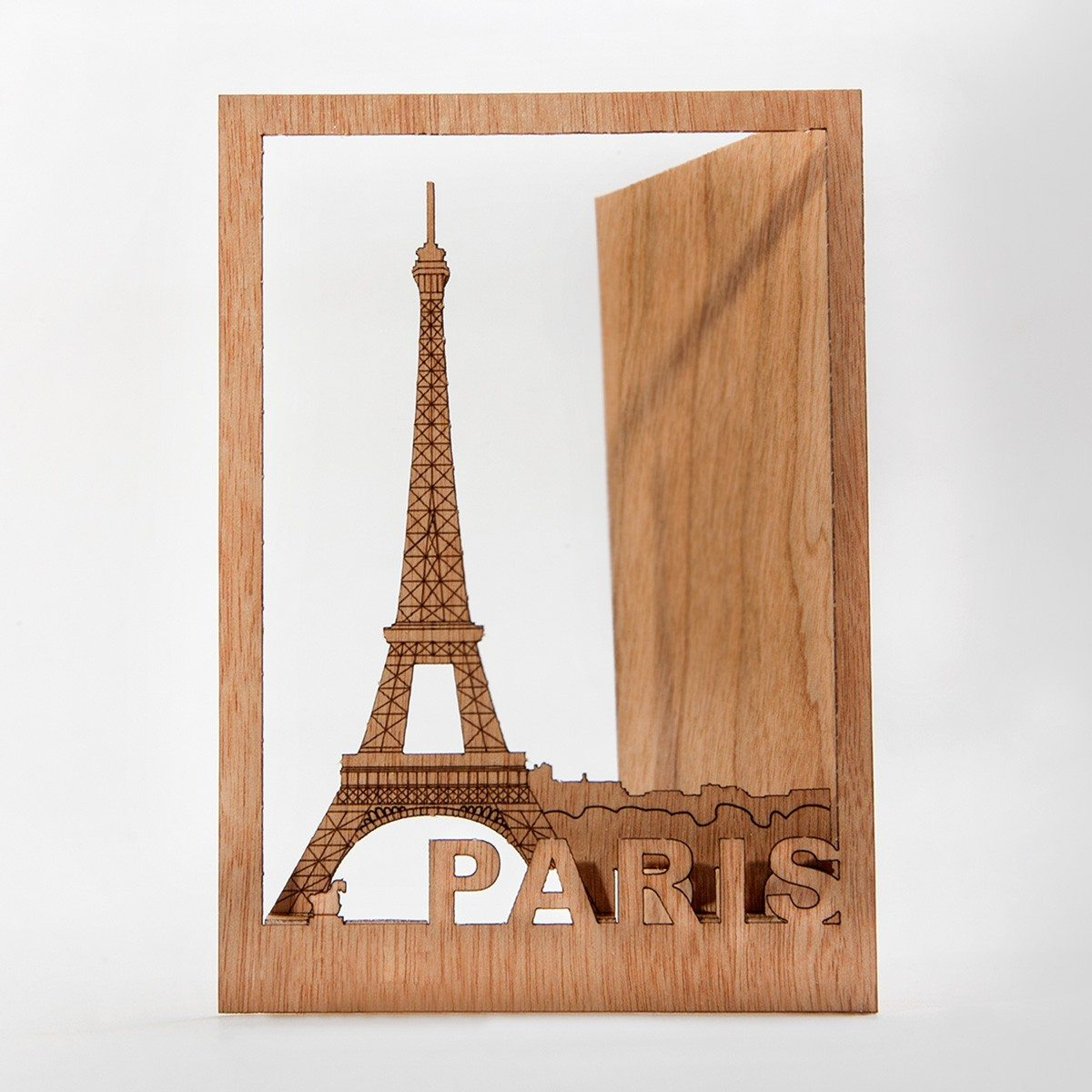 Cartes postales Pop up en bois - Paris