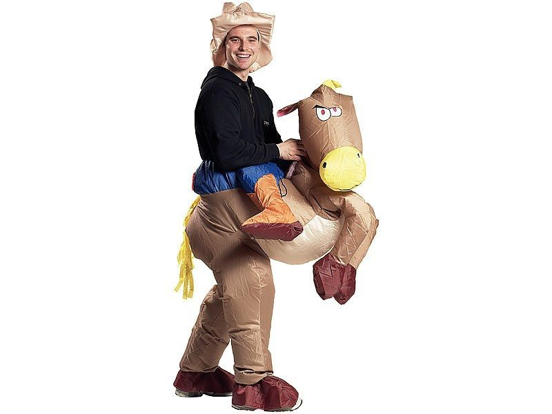 Costume gonflable - Cowboy & cheval