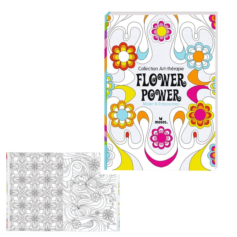 Livre de coloriage - Flower Power