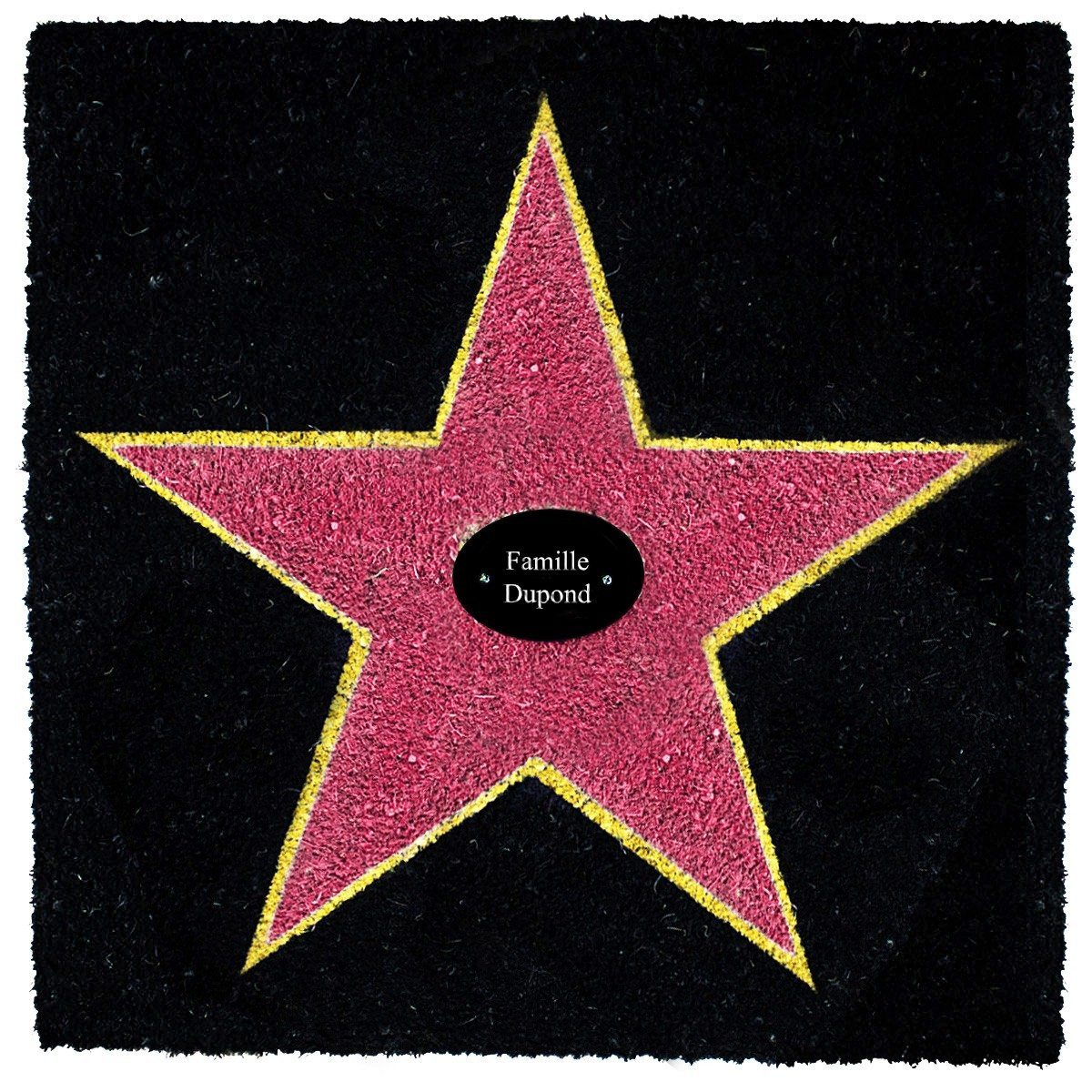 Paillasson : Étoile Walk of Fame - personnalisable