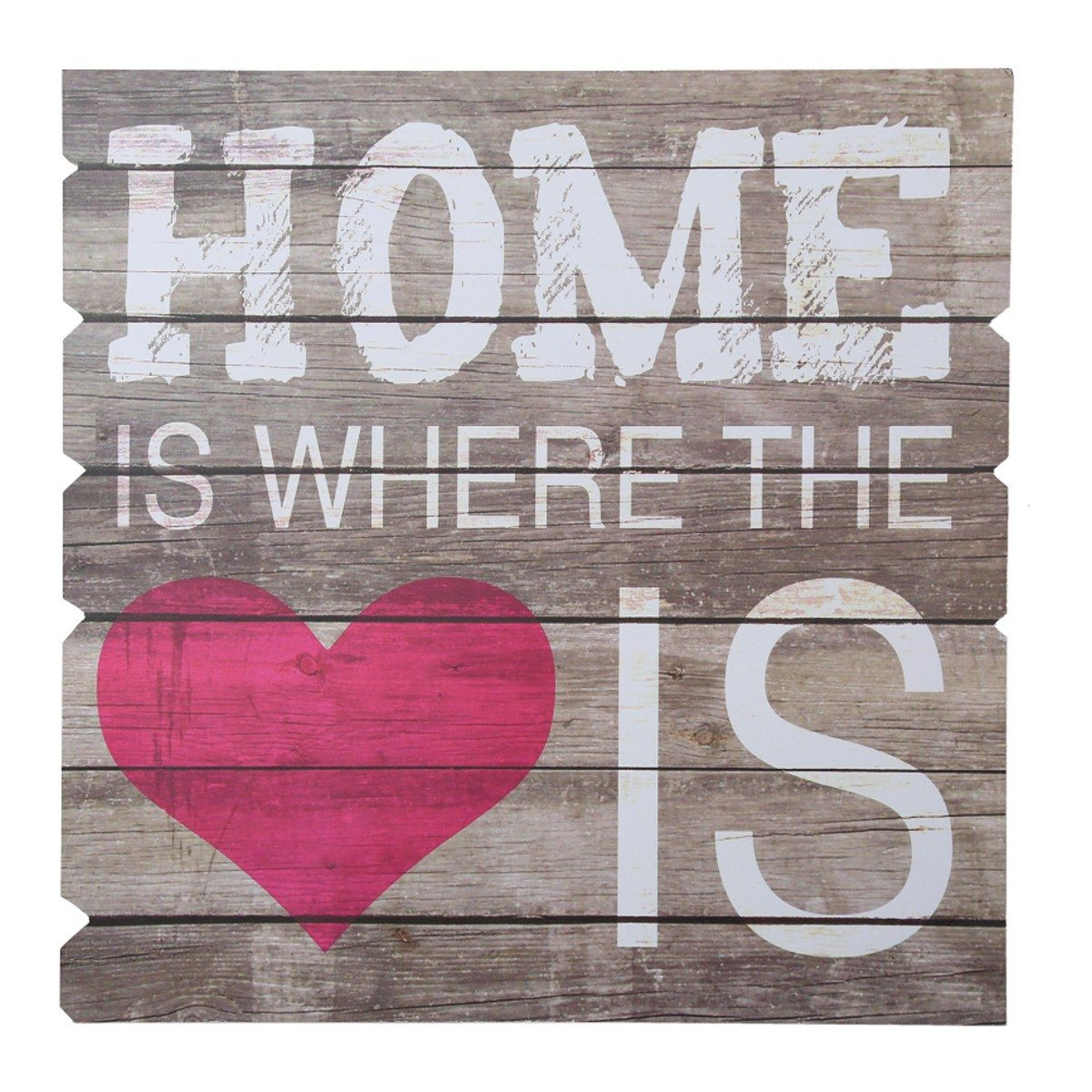 Panneau en bois - Home Is Where The Heart Is