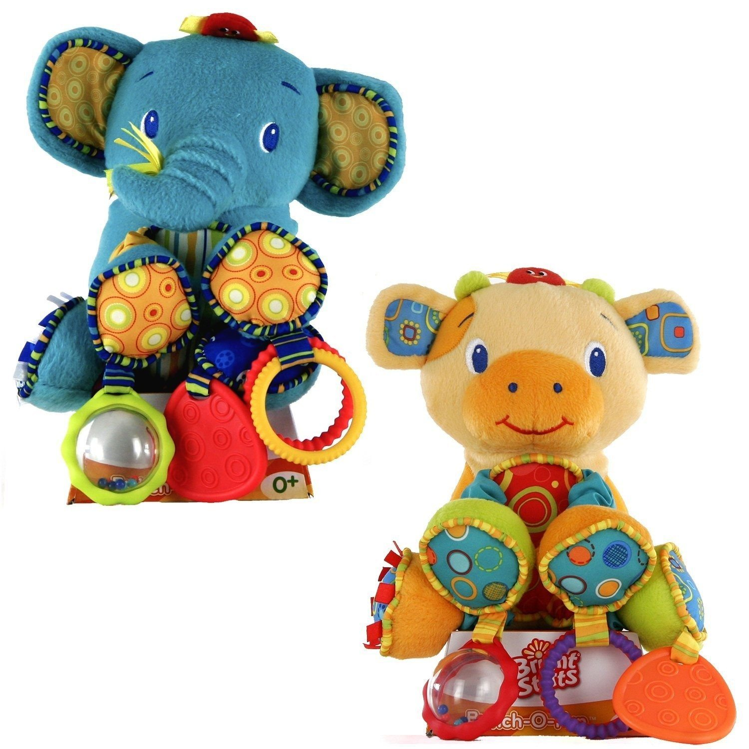 Peluches en forme d'animaux Bright Starts