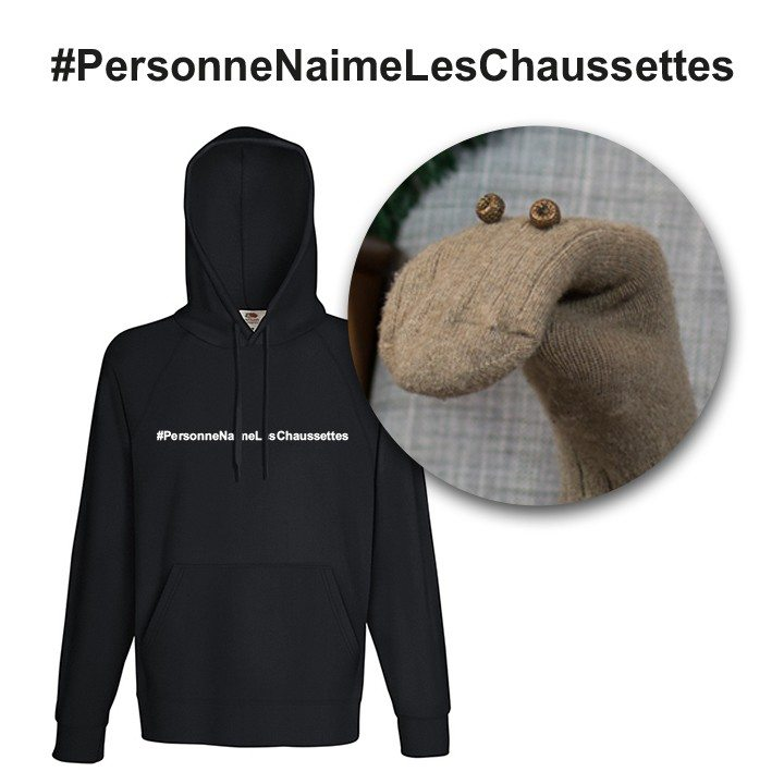 #PersonneNaimeLesChaussettes – Le sweat Homme
