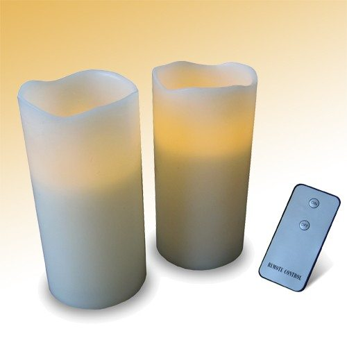 Set de 2 bougies LED