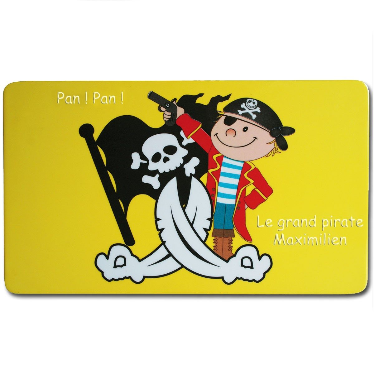 Set de table personnalis pirate for Table 0 5 ans portneuf
