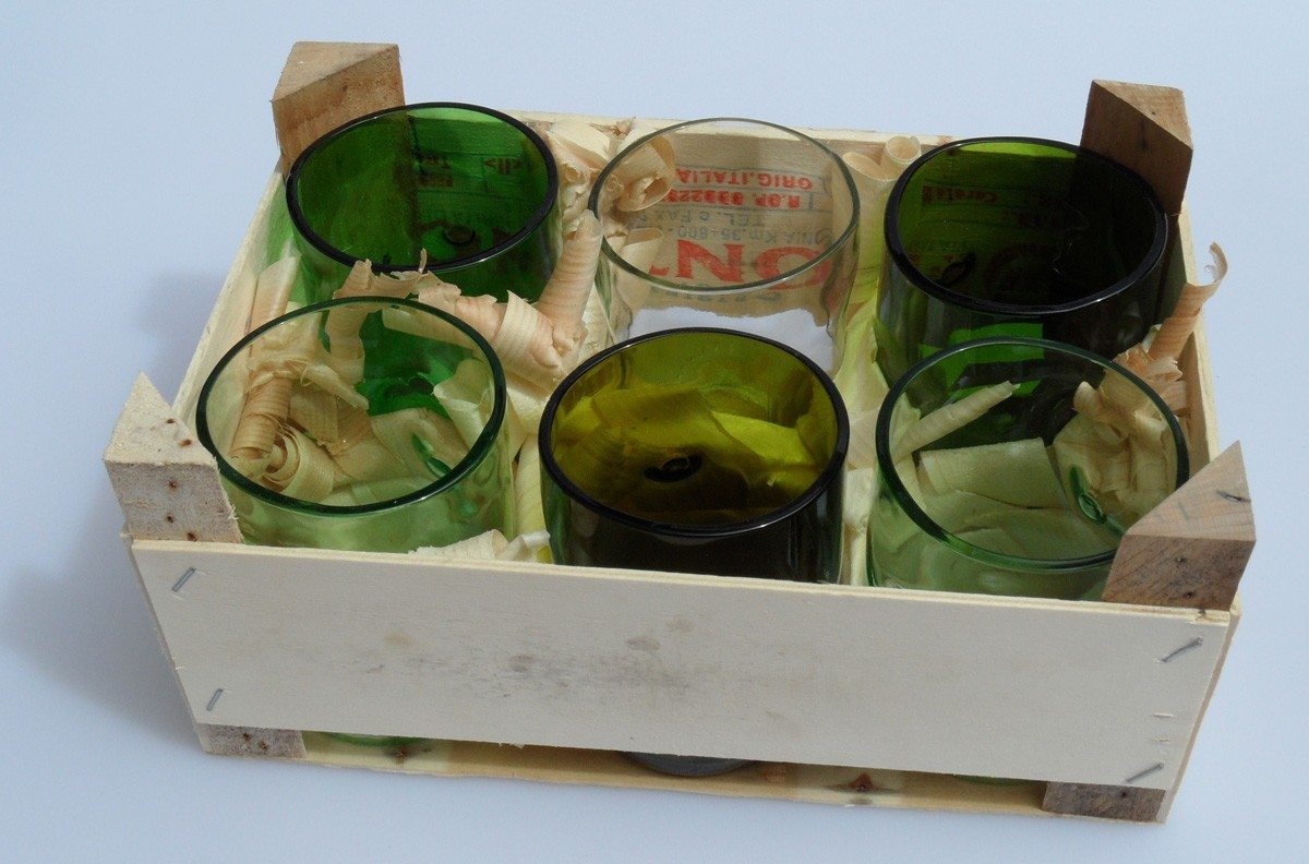 Set de verres Artificial Re.use en verre recyclé