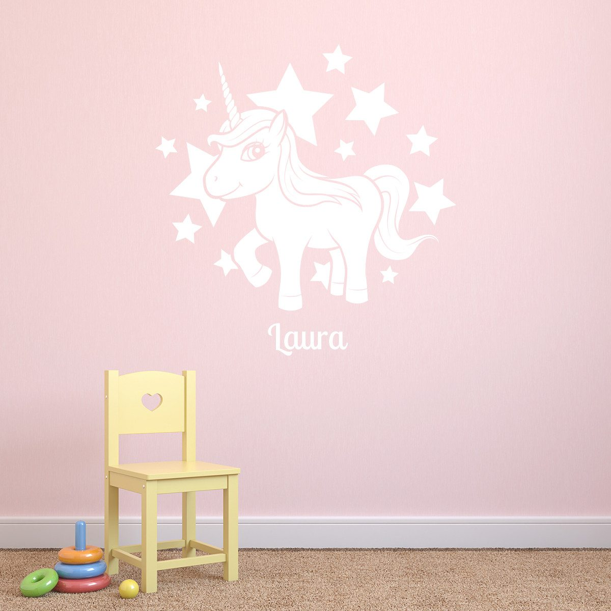 Stickers mural personnalis licorne - Sticker mural personnalise ...