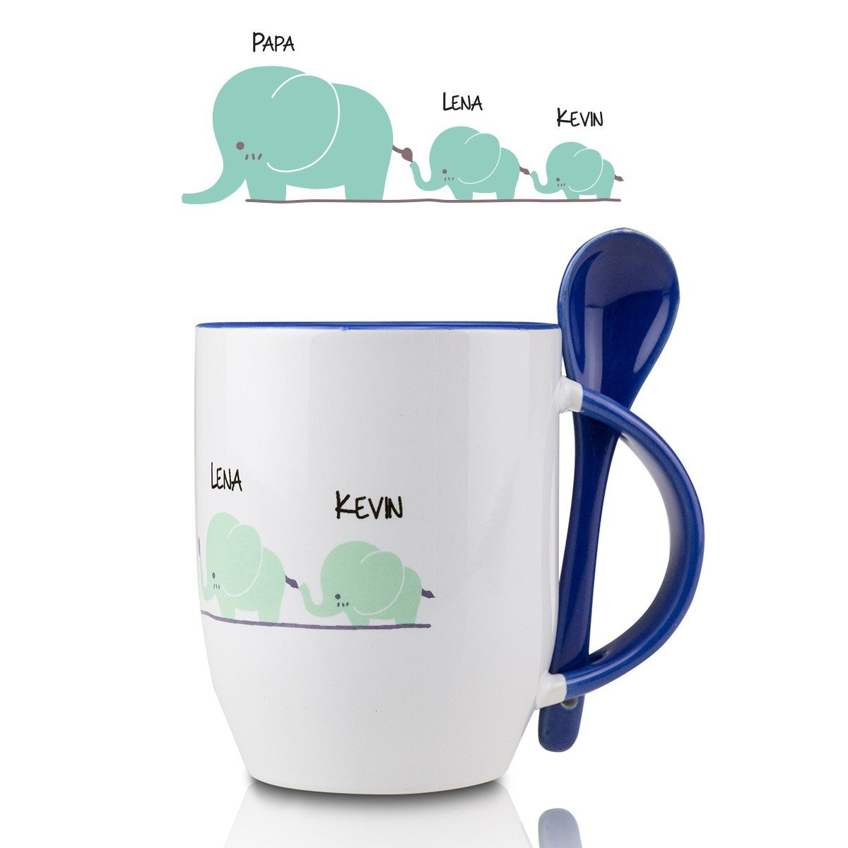 Tasse cuill re personnalis e el phants - Creation de tasse personnalisee ...
