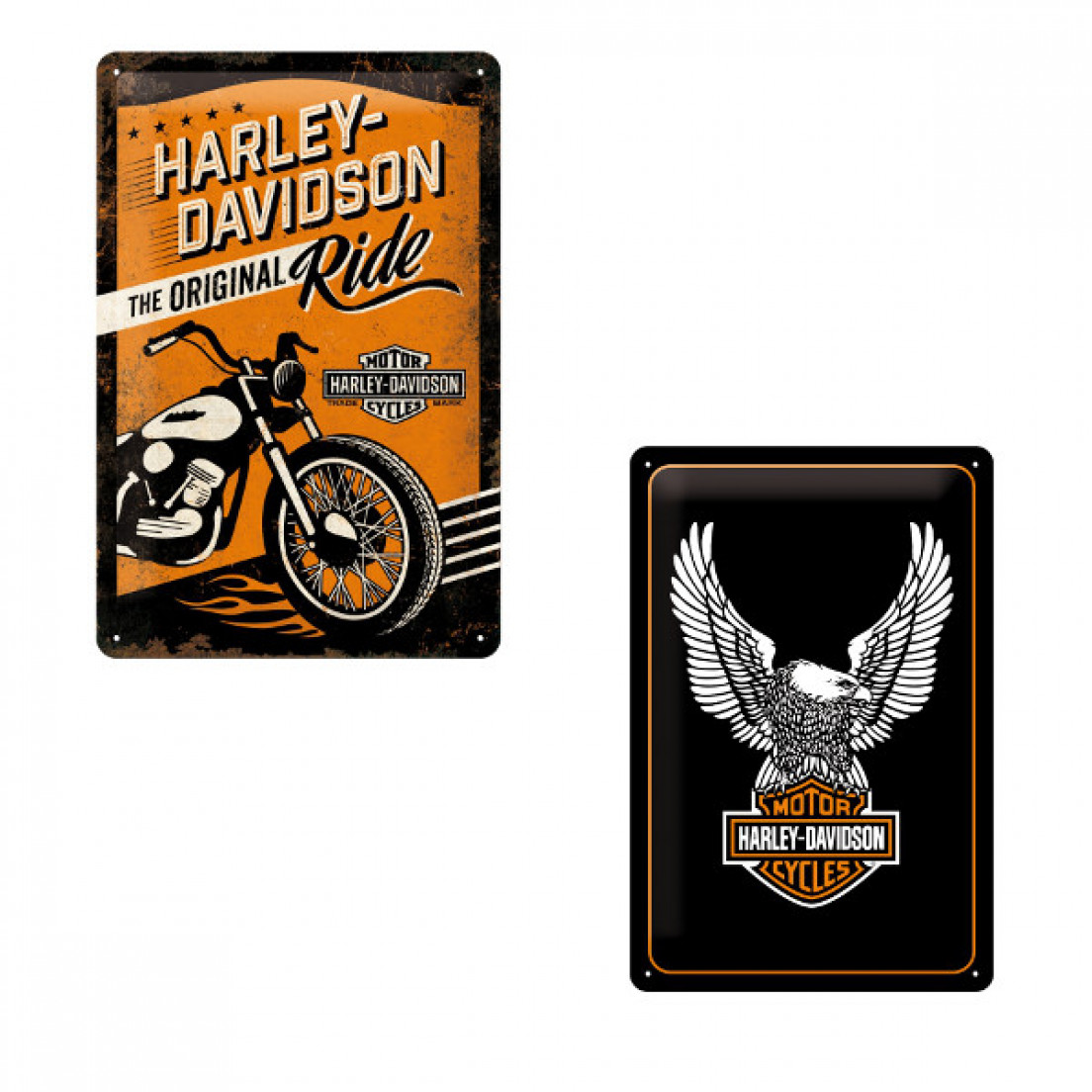 panneau r tro harley davidson. Black Bedroom Furniture Sets. Home Design Ideas