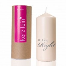 Bougie de mariage - Mr. & Mrs. Right