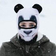 Cagoule de ski animal - panda de face