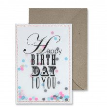 Carte confettis - Happy Birthday