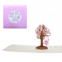 Carte Pop-up 3D - Arbre romantique