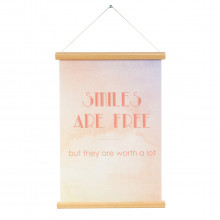 Poster Canvas - Smiles are…