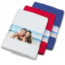 Serviette de bain avec bordure photo