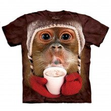 T-Shirt Enfant Gros plan Animal Orang-outan de Noël