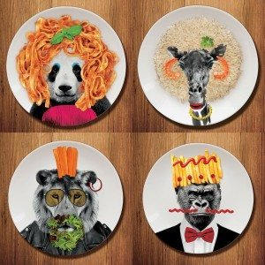 Assiette Animal original