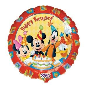 Ballon à hélium - Happy Birthday Mickey