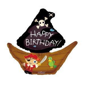 Ballon à hélium - Happy Birthday Pirate