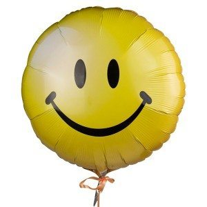 Ballon à hélium - Smiley
