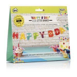 Bannière LED Happy Birthday