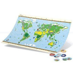 Carte du monde avec stickers