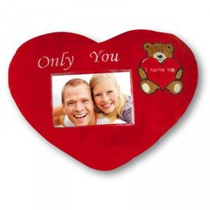 Coussin cœur pour photo - Only you
