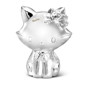 Hello Kitty - Tirelire argentée gravée