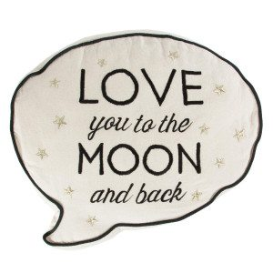 Coussin « Love you to the moon and back »
