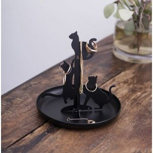 CATS JEWELRY STAND BLACK
