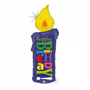 "Kerze Happy Birthday 104 cm/ candle 41"" holo"