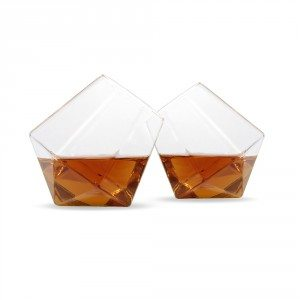 Lot de deux verres à whisky « Diamant »