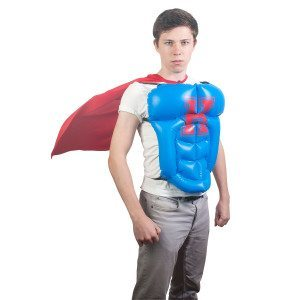 Plastron Superman gonflable & cape