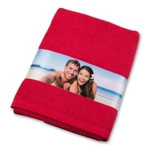 Serviette bordure photo - rouge