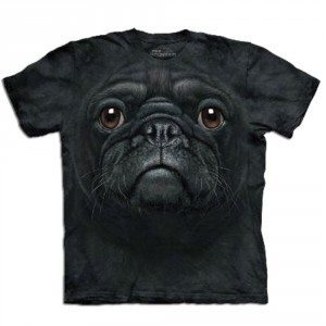 T-shirt Gros plan Animal - Carlin noir