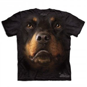 T-shirt Gros plan Animal - Rottweiler